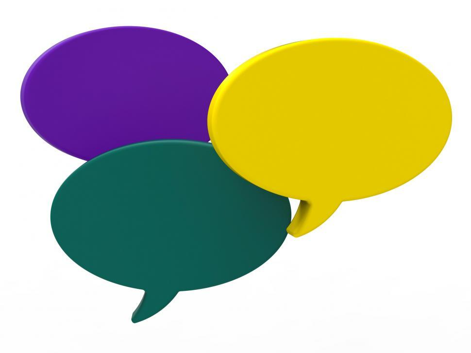 Download Free Stock HD Photo of Blank Speech Balloon Shows Copyspace For Thought Chat Or Idea Online