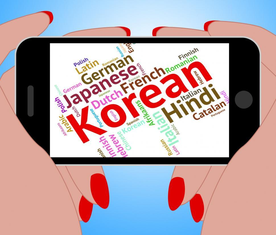 Download Free Stock HD Photo of Korean Language Represents Text Translator And Words Online