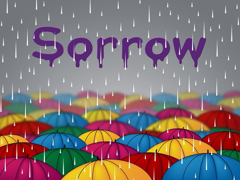 Download Free Stock Photo of Sorrow Rain Indicates Grief Stricken And Depressed