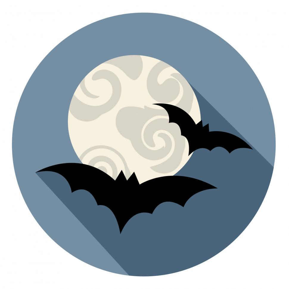 Download Free Stock Photo of Halloween Bats Icon Means Spooky Horror Symbol
