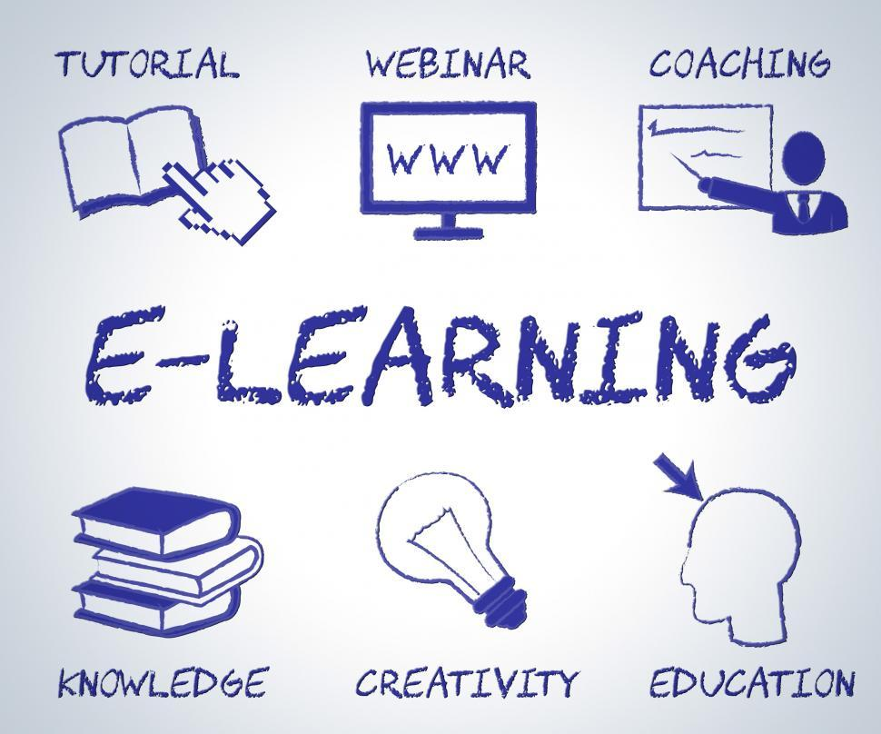Download Free Stock HD Photo of Elearning Online Represents Web Site And Educate Online