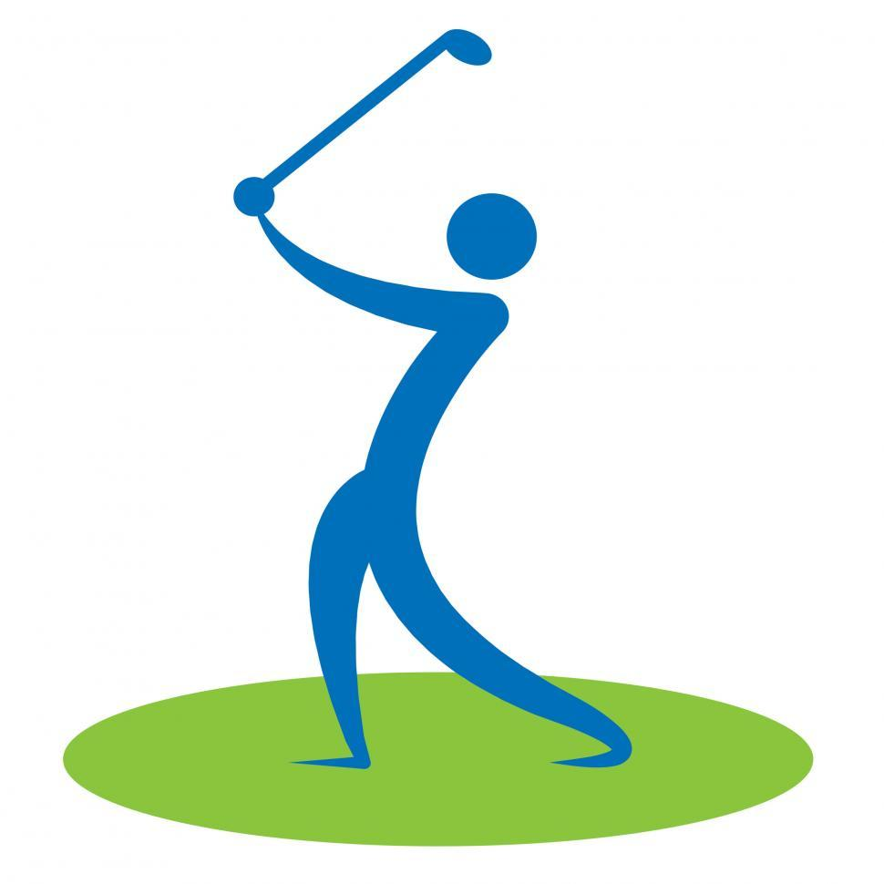 Download Free Stock HD Photo of Golf Swing Man Indicates Game Human And Player Online