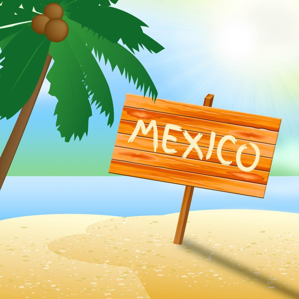 Download Free Stock HD Photo of Mexico Holiday Indicates Cancun Vacation 3d Illustration Online