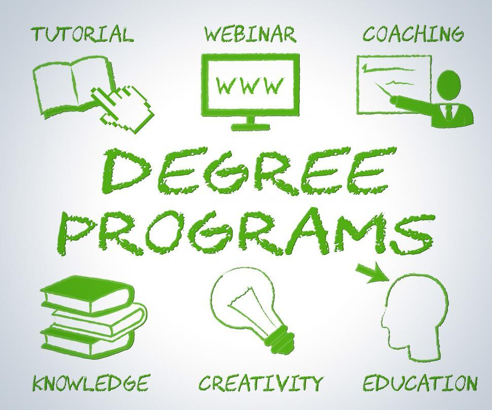 Download Free Stock HD Photo of Degree Programs Shows Web Site And Associates Online