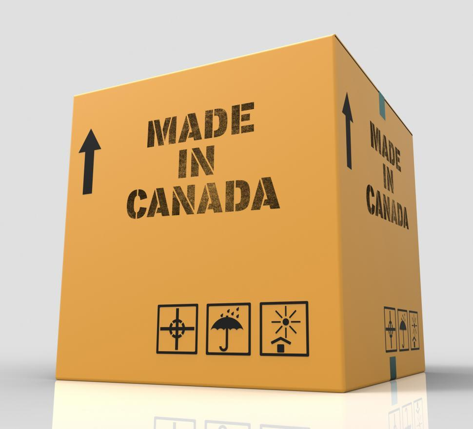 Download Free Stock Photo of Made In Canada Means Store Canadian Production 3d Rendering