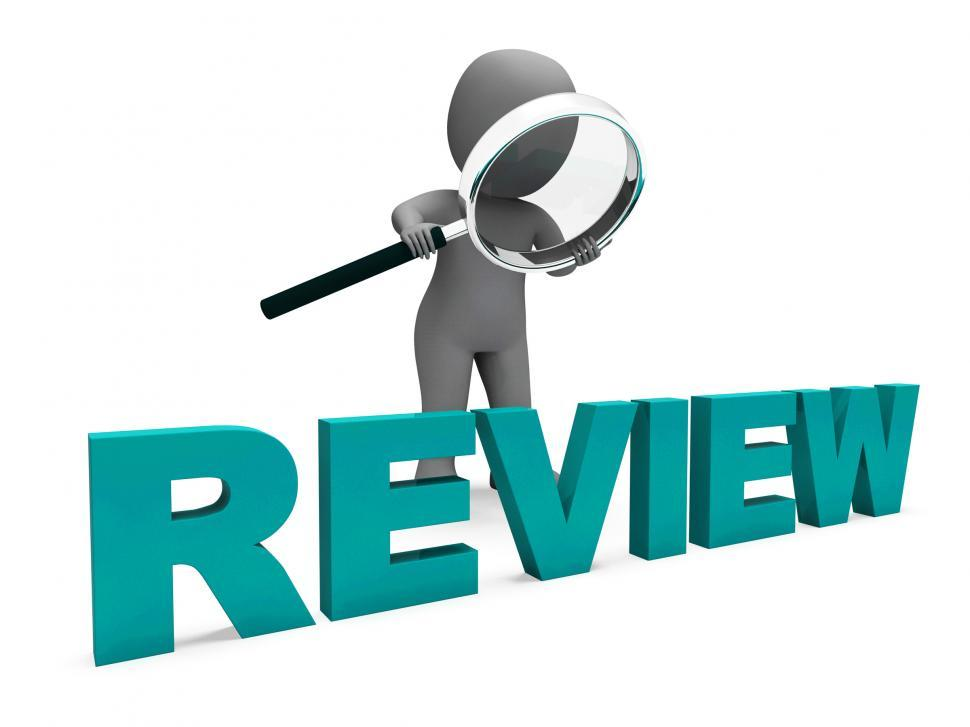 Download Free Stock Photo of Review Character Shows Assess Reviewing Evaluate And Reviews