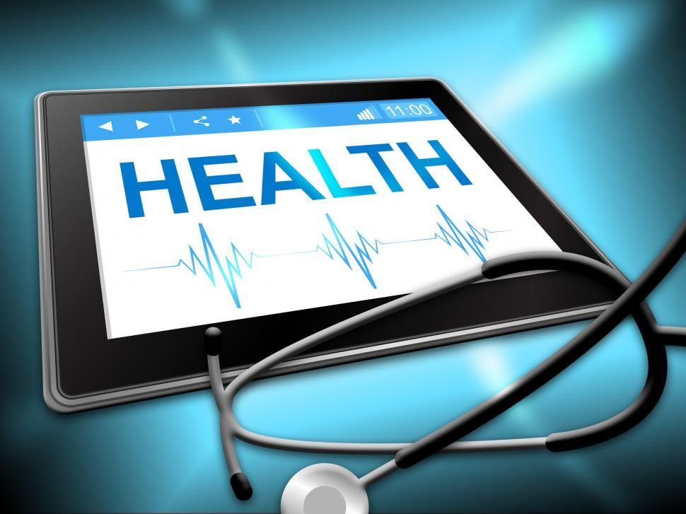 Download Free Stock HD Photo of Health Tablet Represents Preventive Medicine And Computing Online