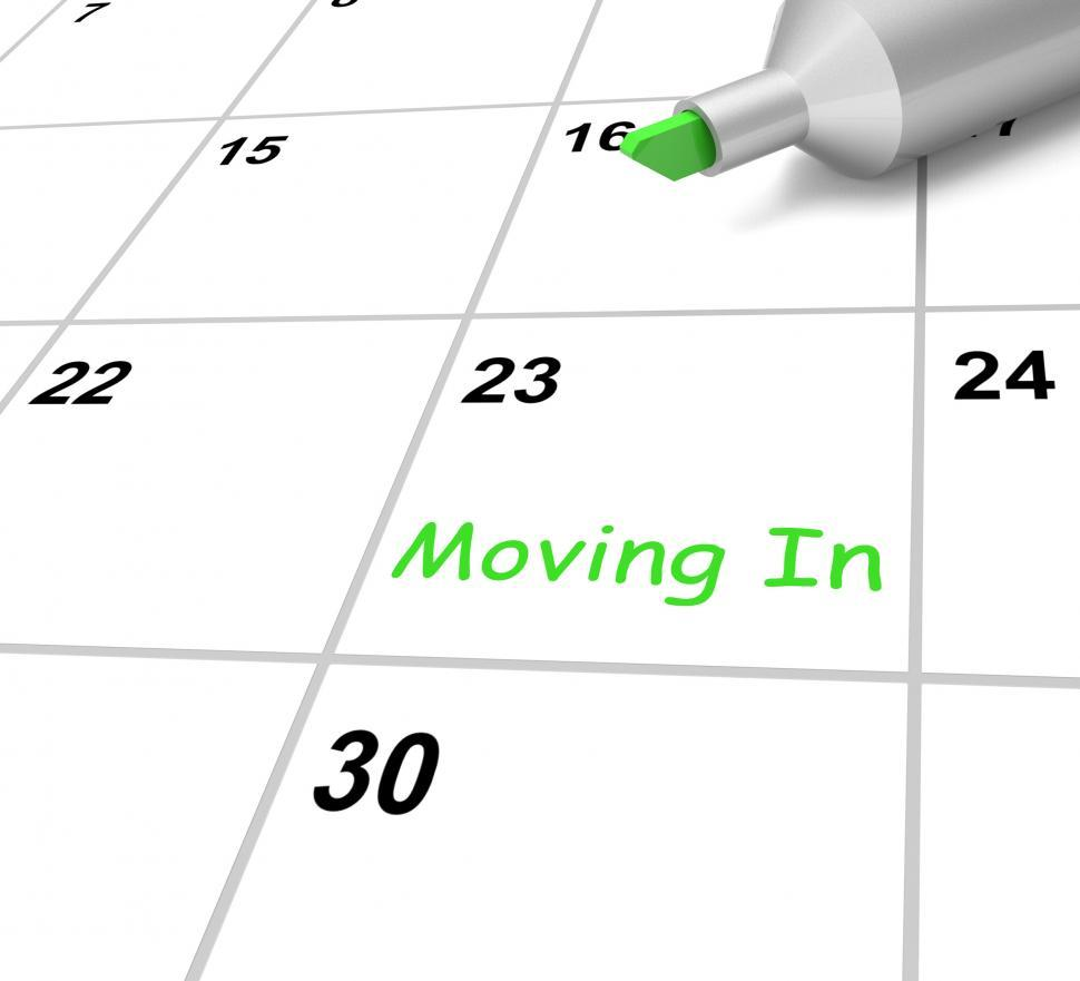 Download Free Stock Photo of Moving In Calendar Means New Home Or Tenancy