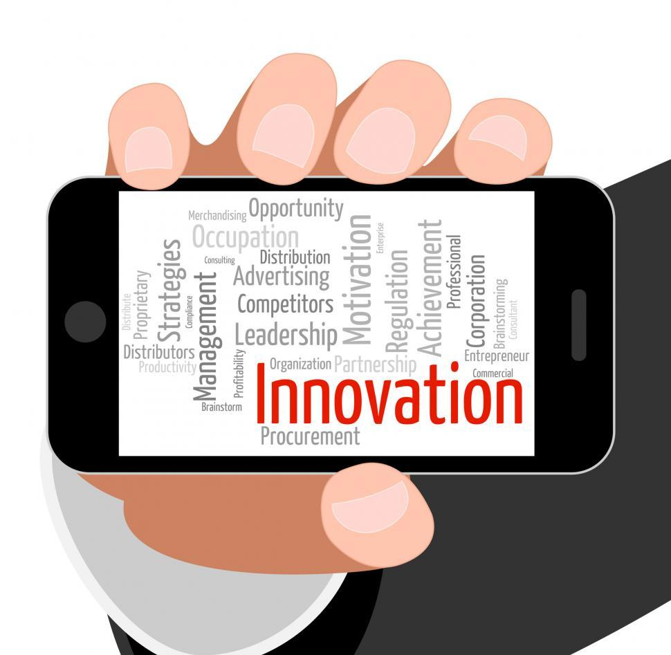 Download Free Stock Photo of Innovation Word Indicates New Idea And Improve