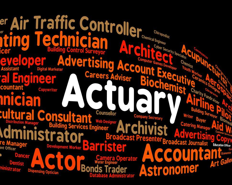 Download Free Stock HD Photo of Actuary Job Shows Actuarial Science And Cpa Online