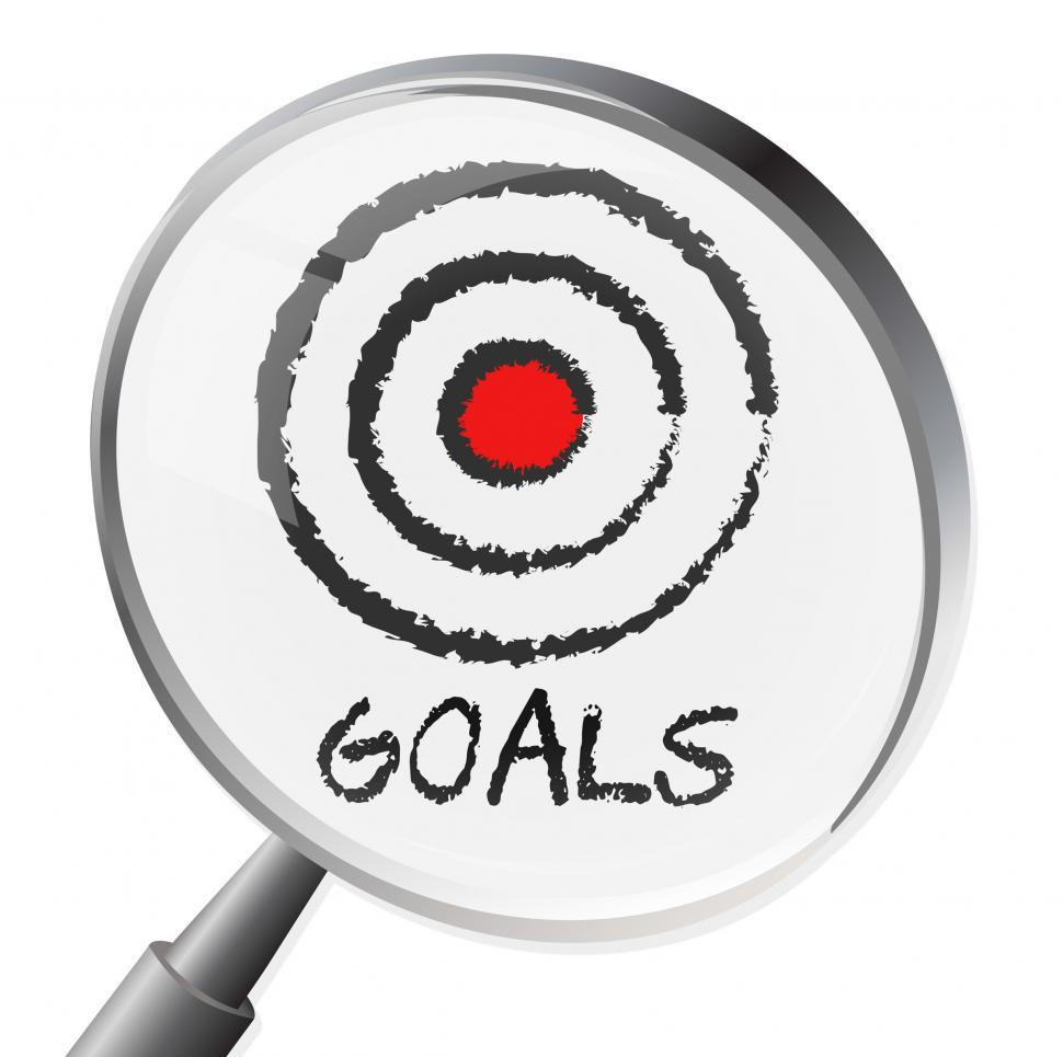 Download Free Stock HD Photo of Goals Magnifier Shows Magnify Desire And Wishes Online