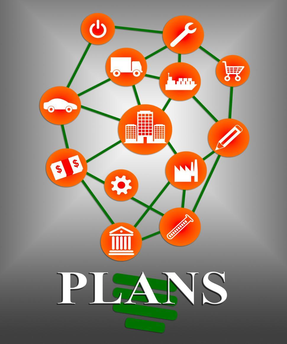 Download Free Stock HD Photo of Plans Icons Shows Symbol Objective And Aspire Online