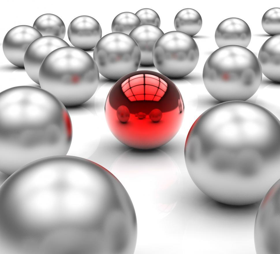 Download Free Stock HD Photo of Standing Out Metallic Balls Shows Leadership Online