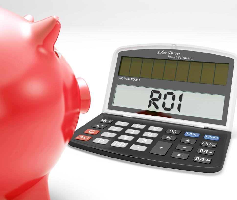 Download Free Stock Photo of ROI Calculator Shows Investment Return And Profitability