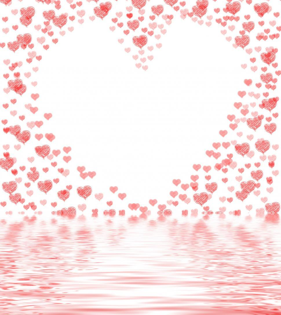 Download Free Stock Photo of Heart Cut From Background Displays Lovely Marriage Or Passionate