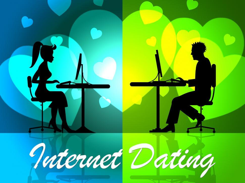 Download Free Stock Photo of Internet Dating Represents Web Site And Date