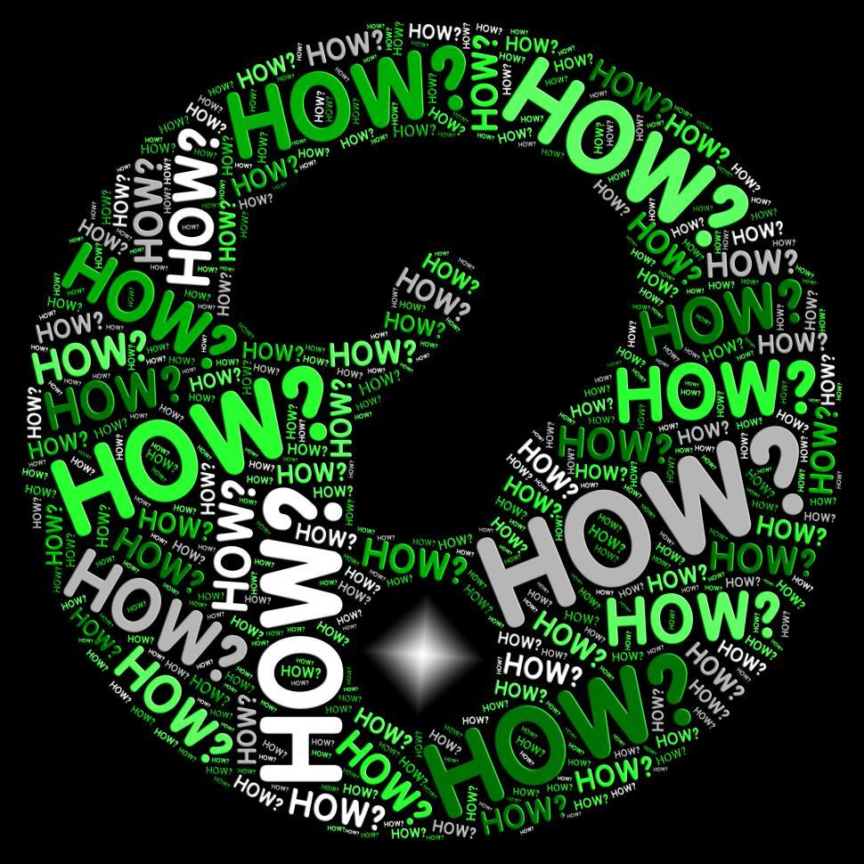 Download Free Stock HD Photo of How Question Mark Shows Not Sure And Uncertain Online