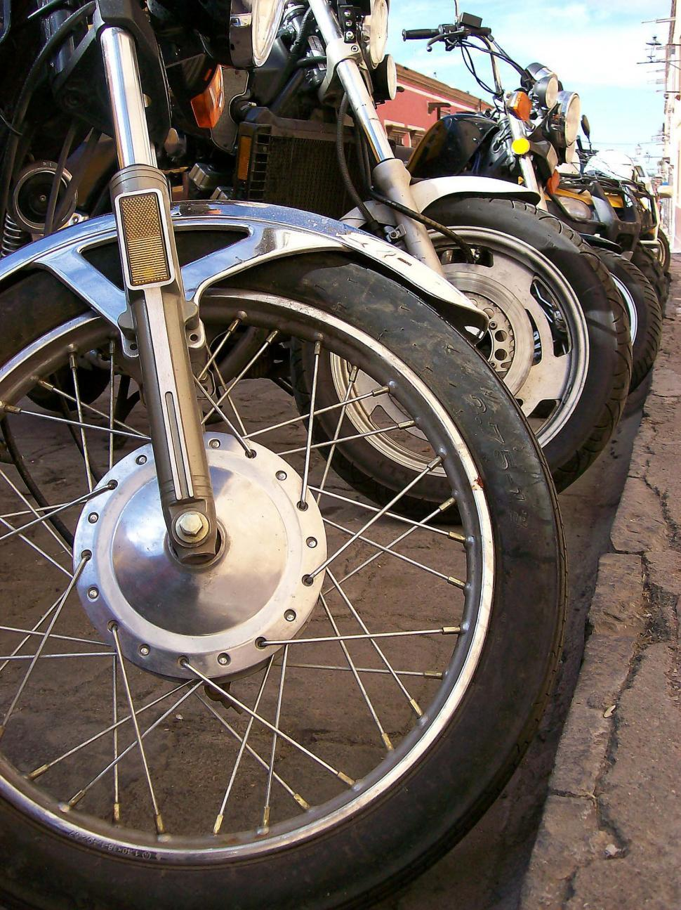 Download Free Stock Photo of Cycles At Curb