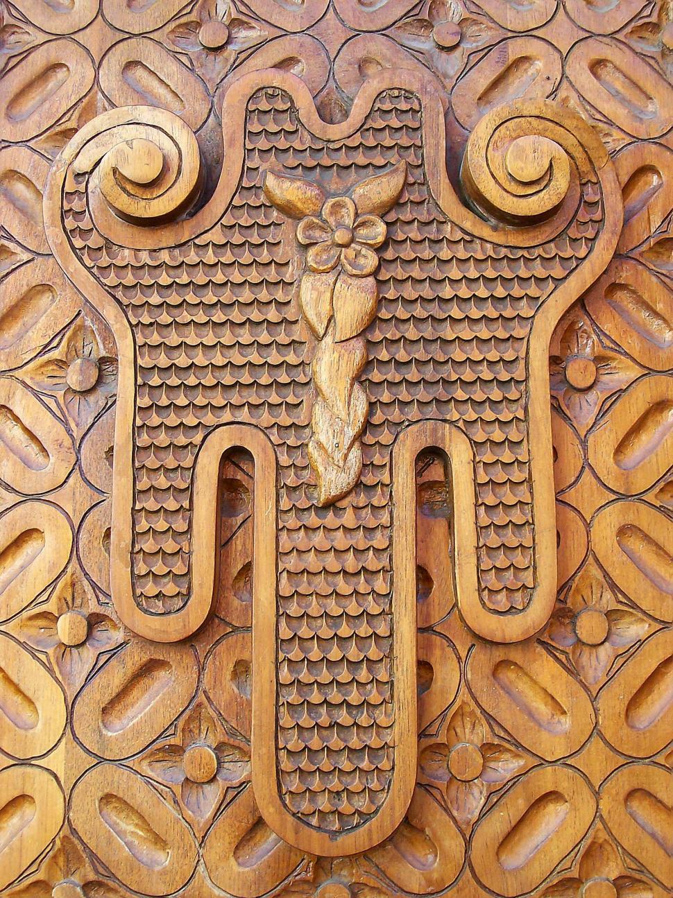 Download Free Stock HD Photo of Ornate Wooden Door Online