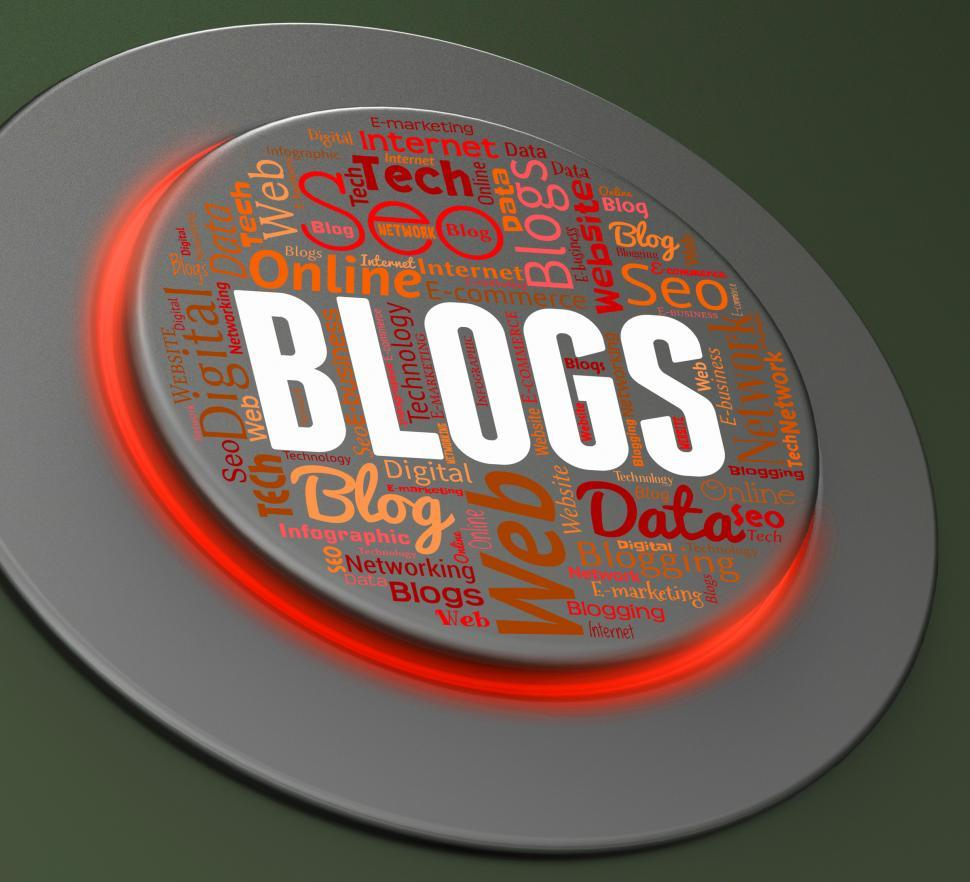 Download Free Stock HD Photo of Blogs Button Represents Web Site And Blogger Online