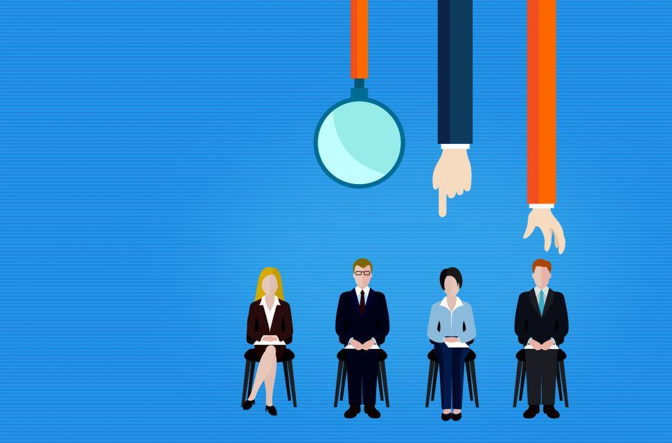 Download Free Stock Photo of Employee Recruitment and Selection - Illustration with Copyspace