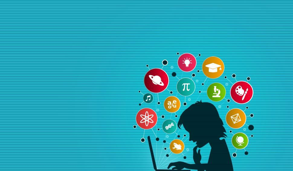 Download Free Stock HD Photo of E-Learning - Child Learning On-Line - Study and Knowledge Illust Online