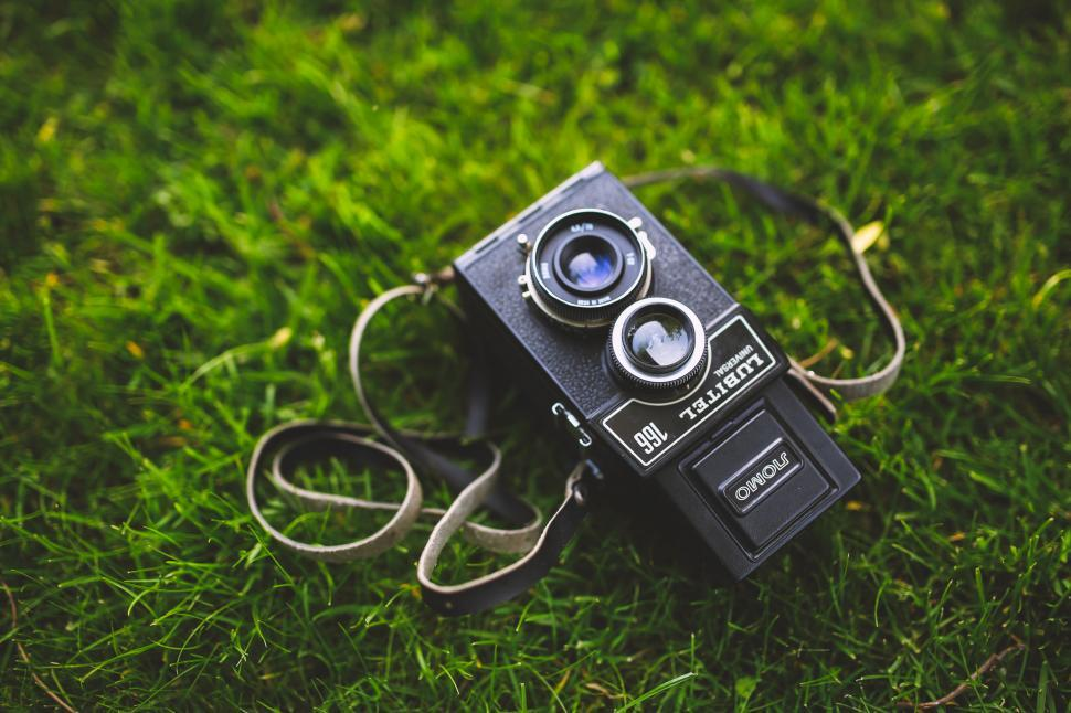 Download Free Stock Photo of 166 Camera Old Retro format lomo lubitel medium russian vintage technology equipment computer connection digital business device telephone television camera electronics electronic camera