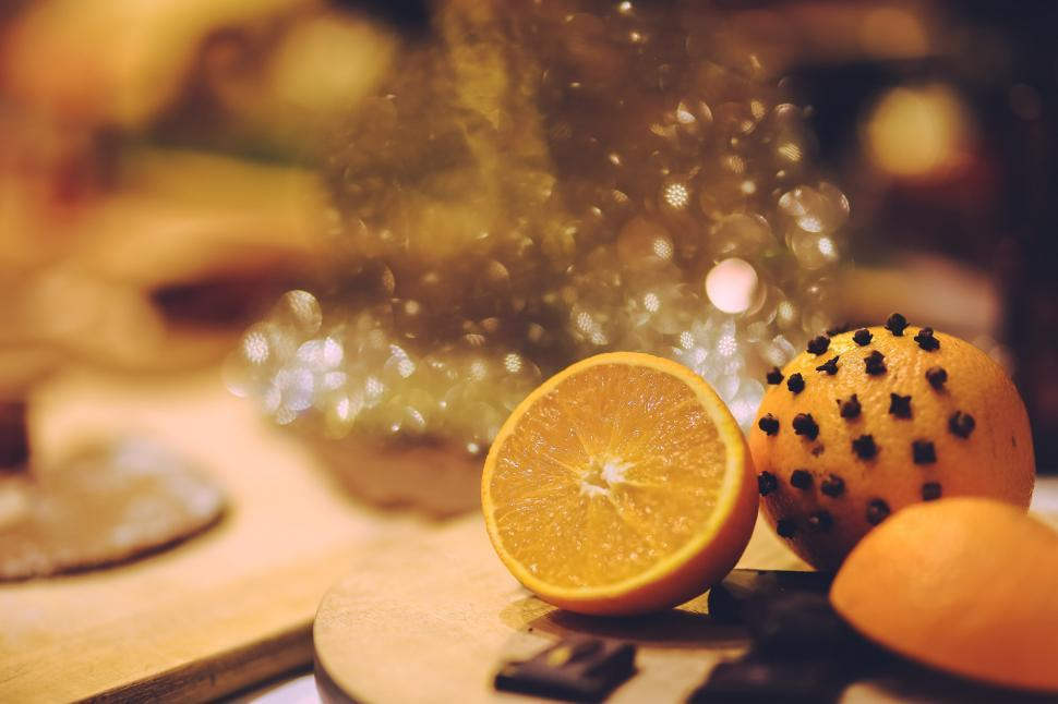 Download Free Stock Photo of Christmas Orange clove cloves fruit fruits xmas food fruit yellow lemon healthy citrus fresh drink close health diet sweet orange freshness ingredient glass relish juicy