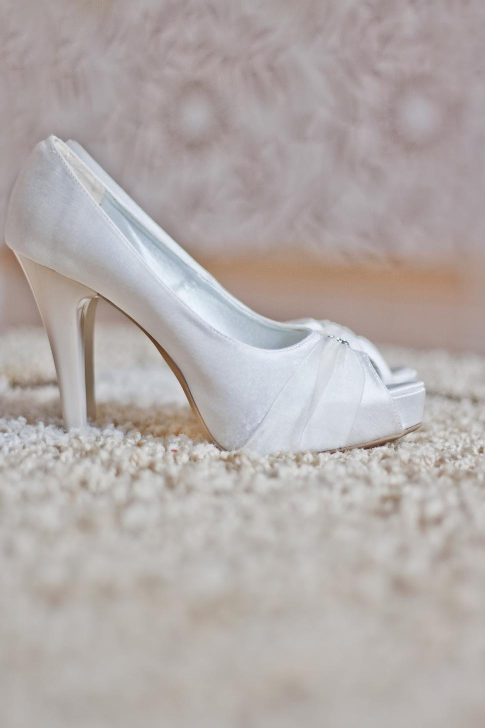 Download Free Stock Photo of higheels shoes wedding white footwear