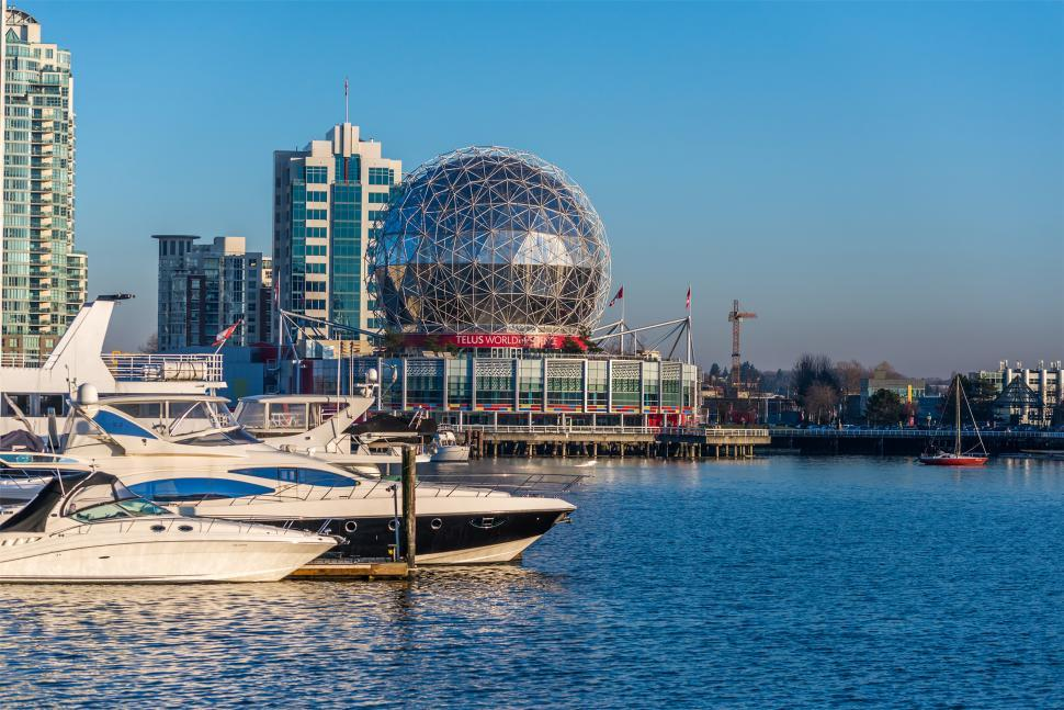 Download Free Stock HD Photo of Telus World of Science in Vancouver, BC, Canada  Online