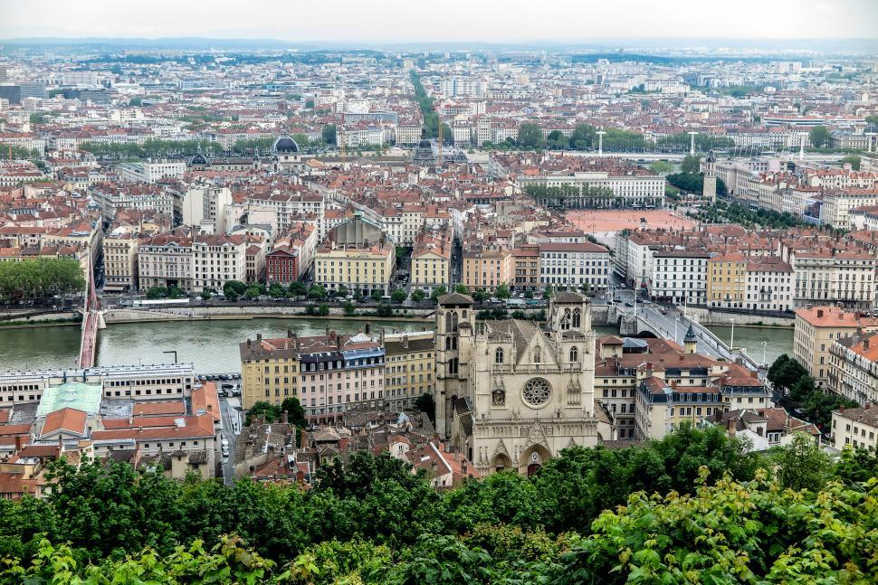 Download Free Stock HD Photo of View of Lyon, France Online