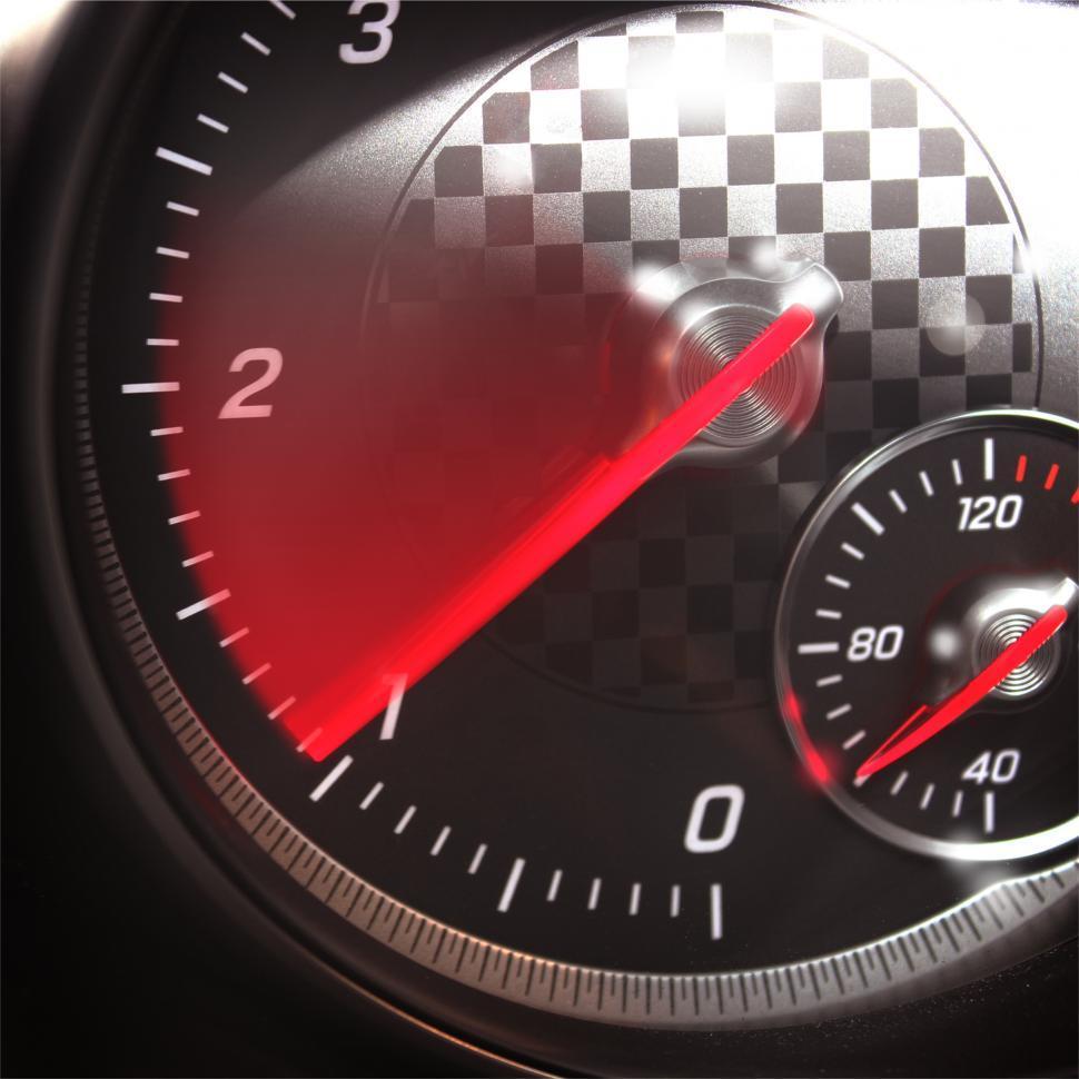 Download Free Stock HD Photo of Sports Car RPM Gauge - Tachometer Speeding Up Online