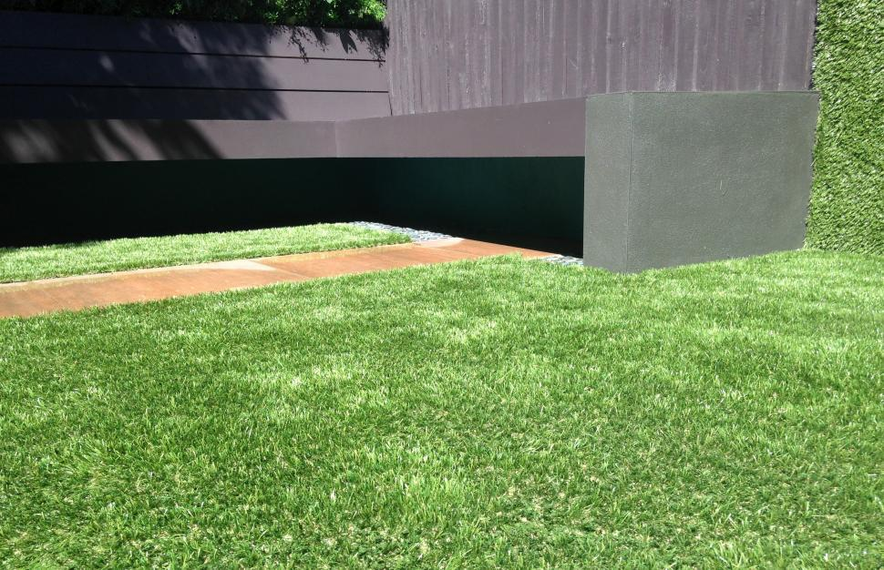 Download Free Stock Photo of Artificial grass in the garden