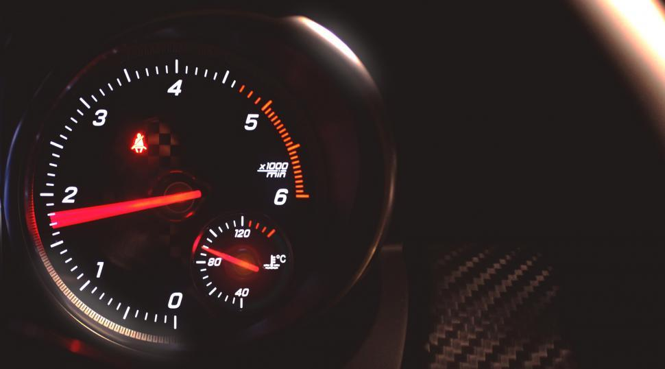 Download Free Stock HD Photo of Sports Car Tachometer Speeding - With Copyspace Online