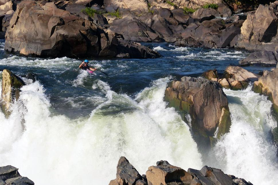 Download Free Stock Photo of Kayaker Ready for the Drop