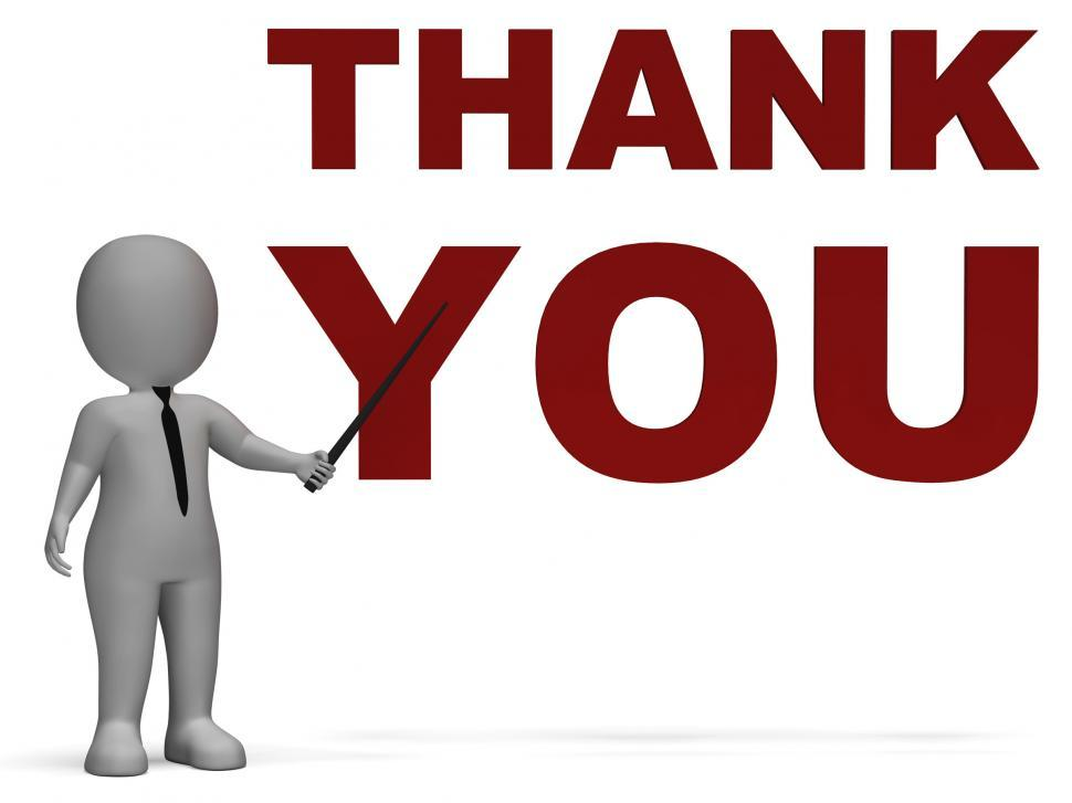 Download Free Stock Photo of Thank You Notice Shows Thanks