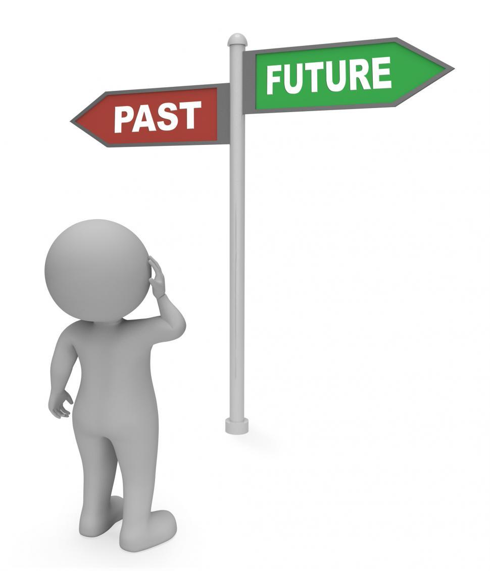 Download Free Stock HD Photo of Past Future Sign Indicates Long Ago And Destiny 3d Rendering Online