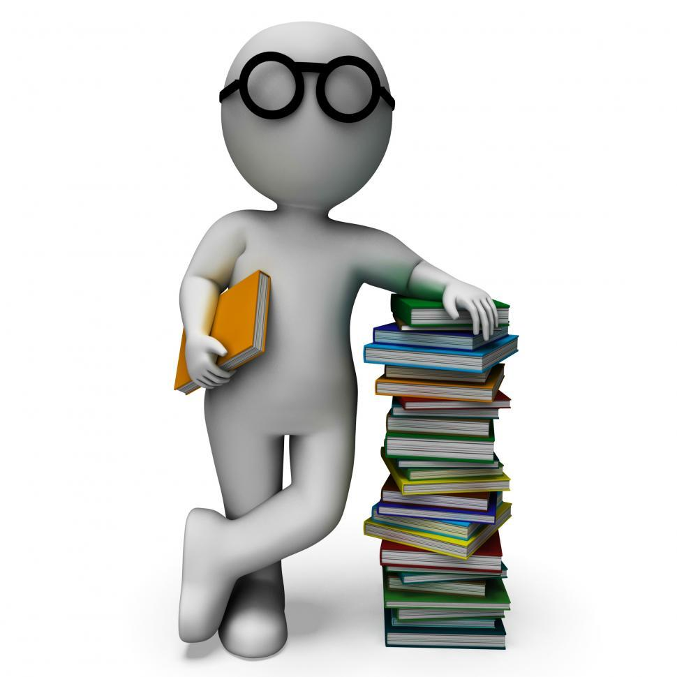 Download Free Stock Photo of Student And Books Shows Education
