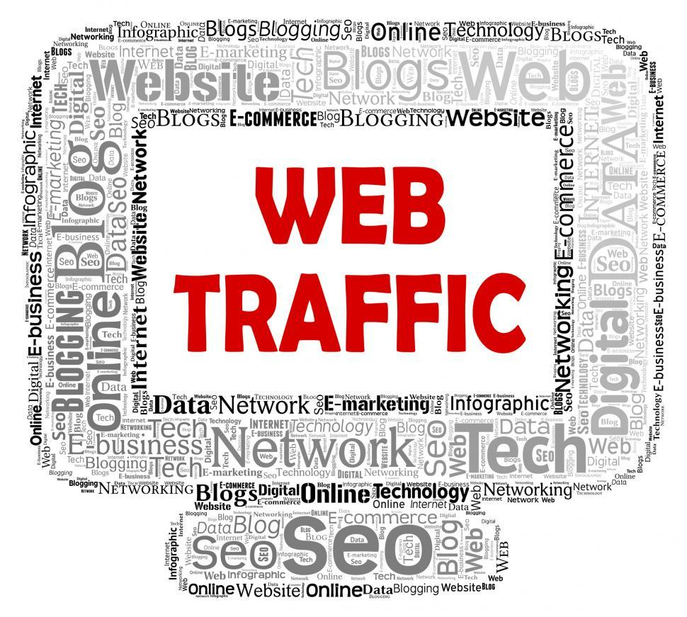 Download Free Stock HD Photo of Web Traffic Represents Www Computer And Customer Online