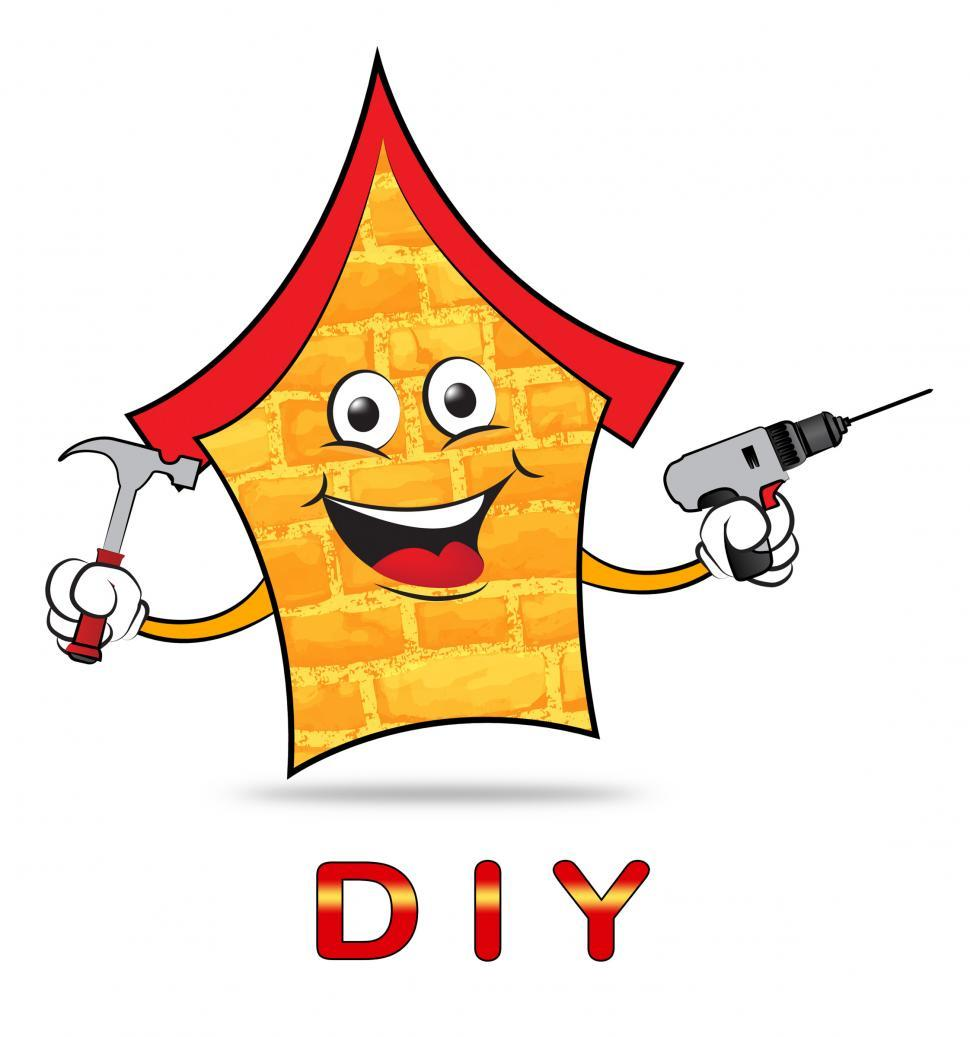 Download Free Stock Photo of Diy House Means Do It Yourself And Building