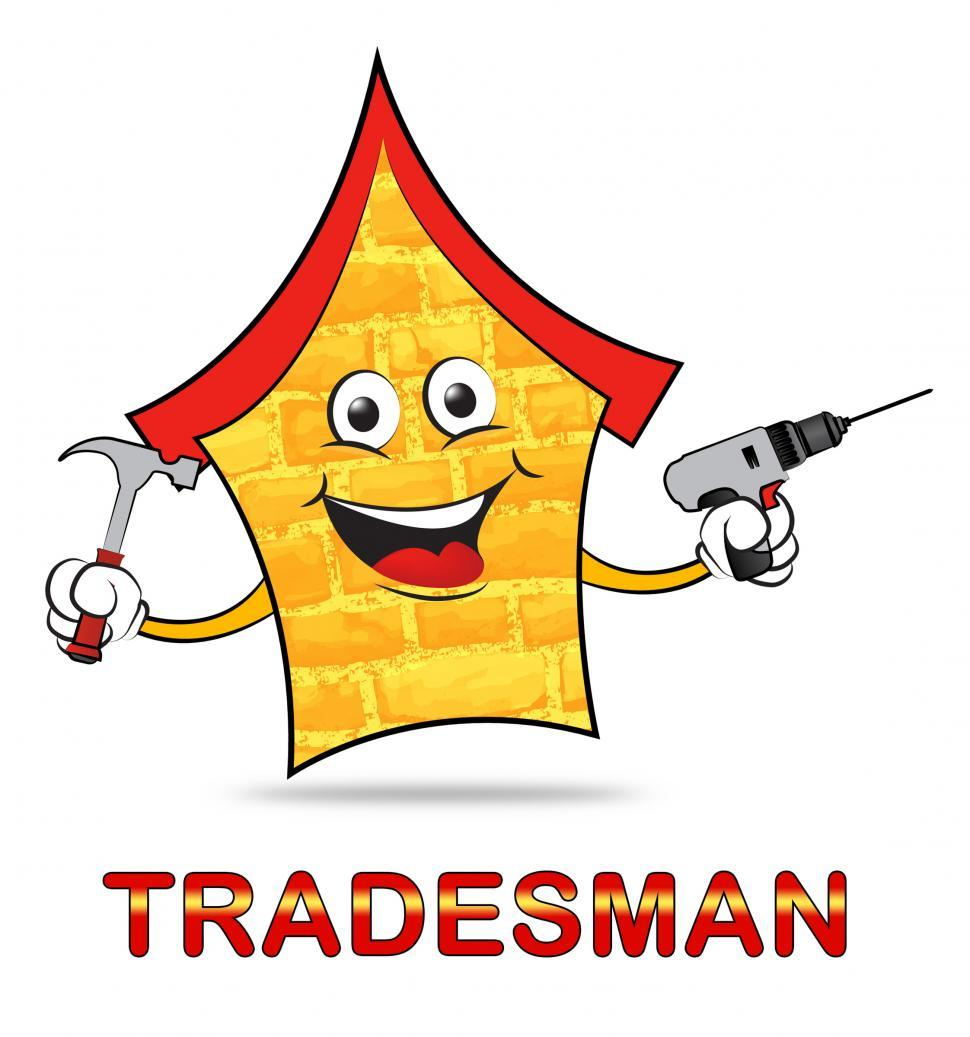 Download Free Stock HD Photo of Building Tradesman Shows Home Improvement And Builder Online