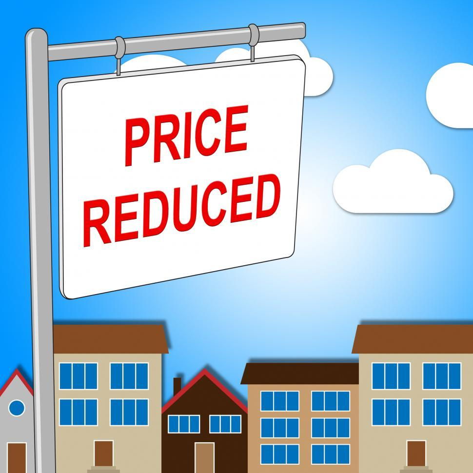 Download Free Stock HD Photo of House Price Reduced Means Properties Offer And Bungalow Online