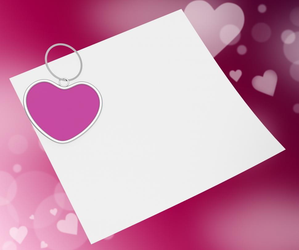 Download Free Stock HD Photo of Heart Clip On Note Means Valentines Card Or Romantic Letter Online