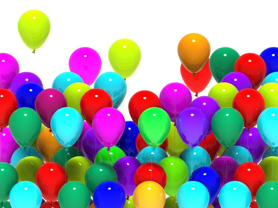 Download Free Stock HD Photo of Colourful Balloons Mean Cheerful Party Or Happy Celebration Online