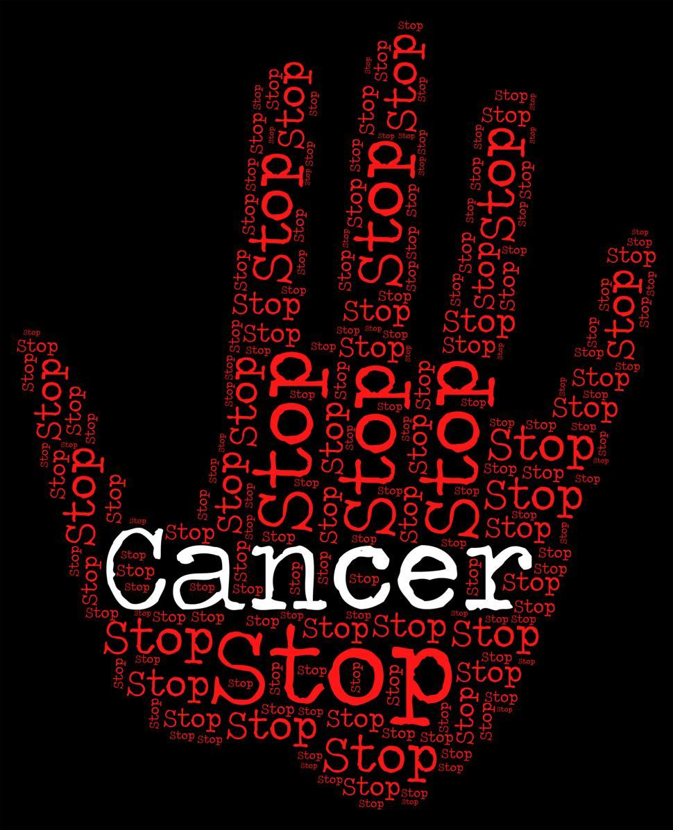 Download Free Stock Photo of Stop Cancer Means Cancerous Growth And Caution