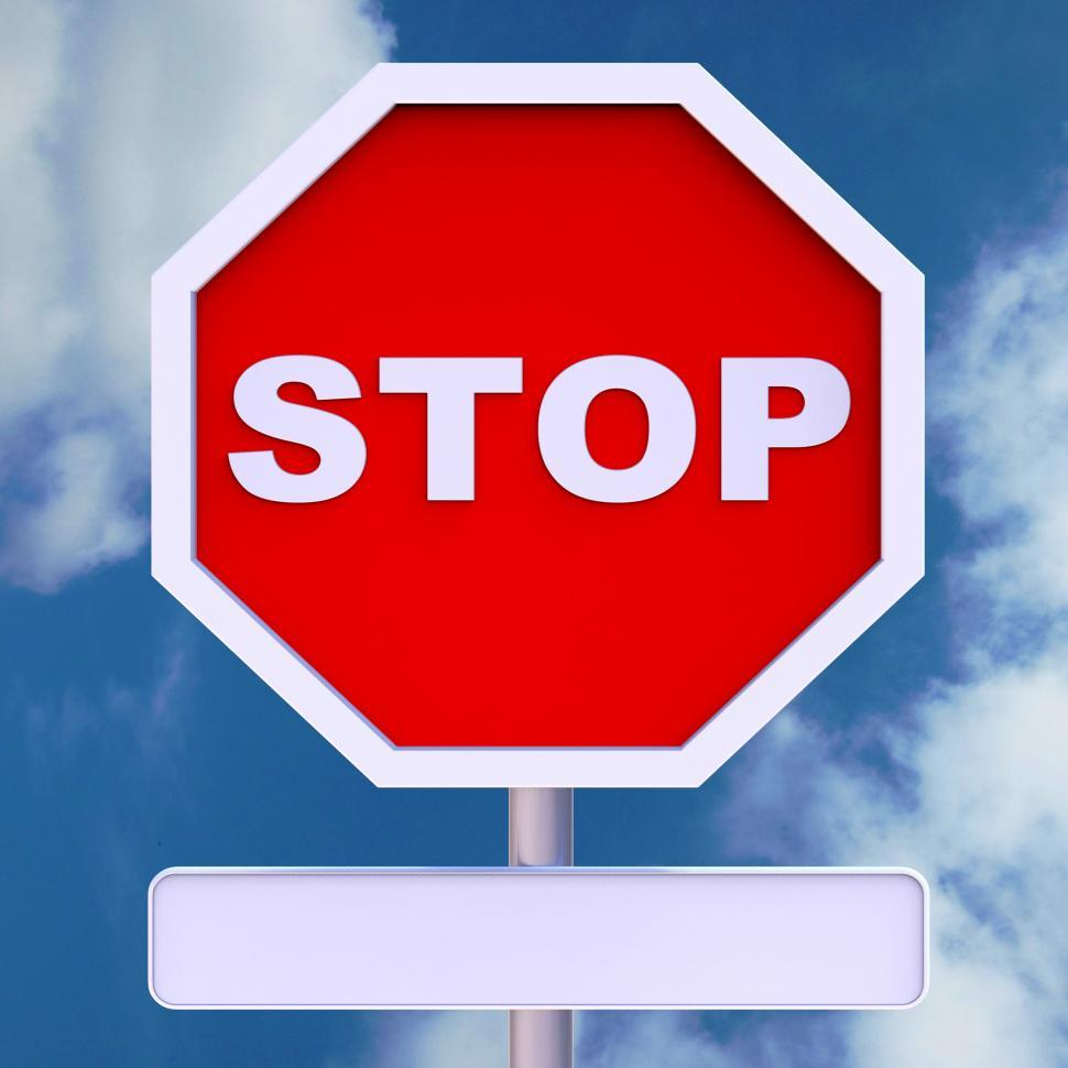 Download Free Stock HD Photo of Stop Sign With Blank Copyspace For Message Online