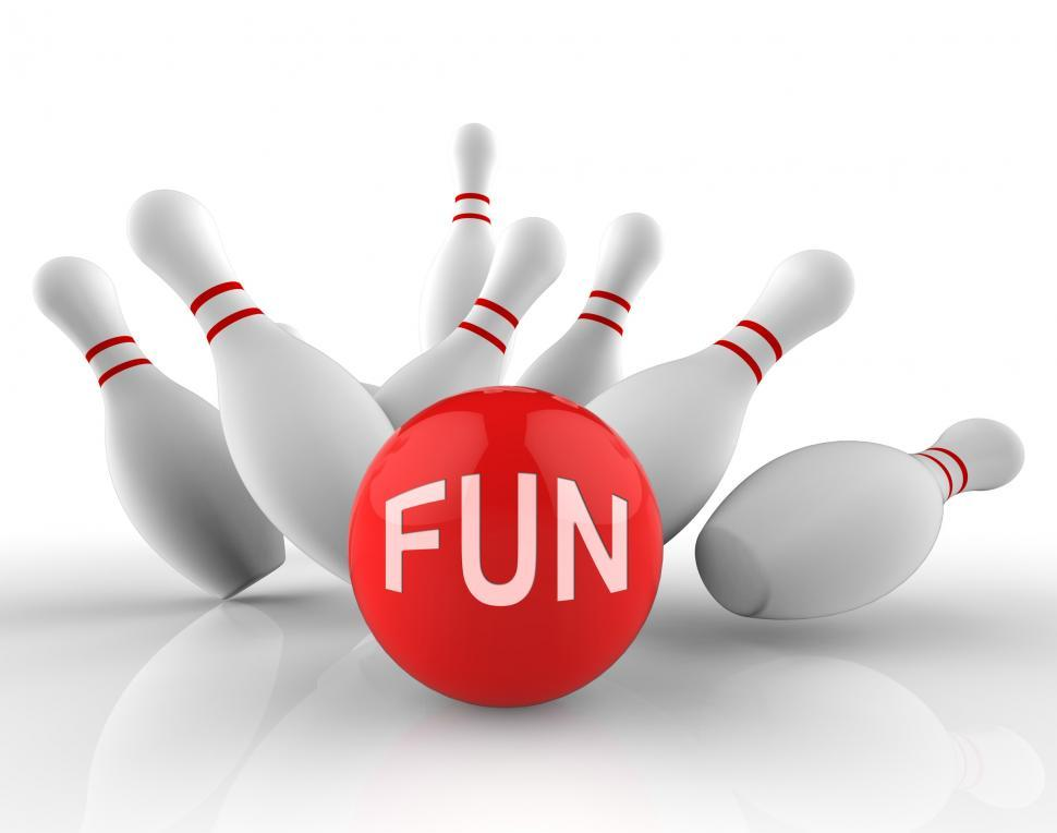 Download Free Stock Photo of Fun Bowling Means Ten Pin And Activity 3d Rendering