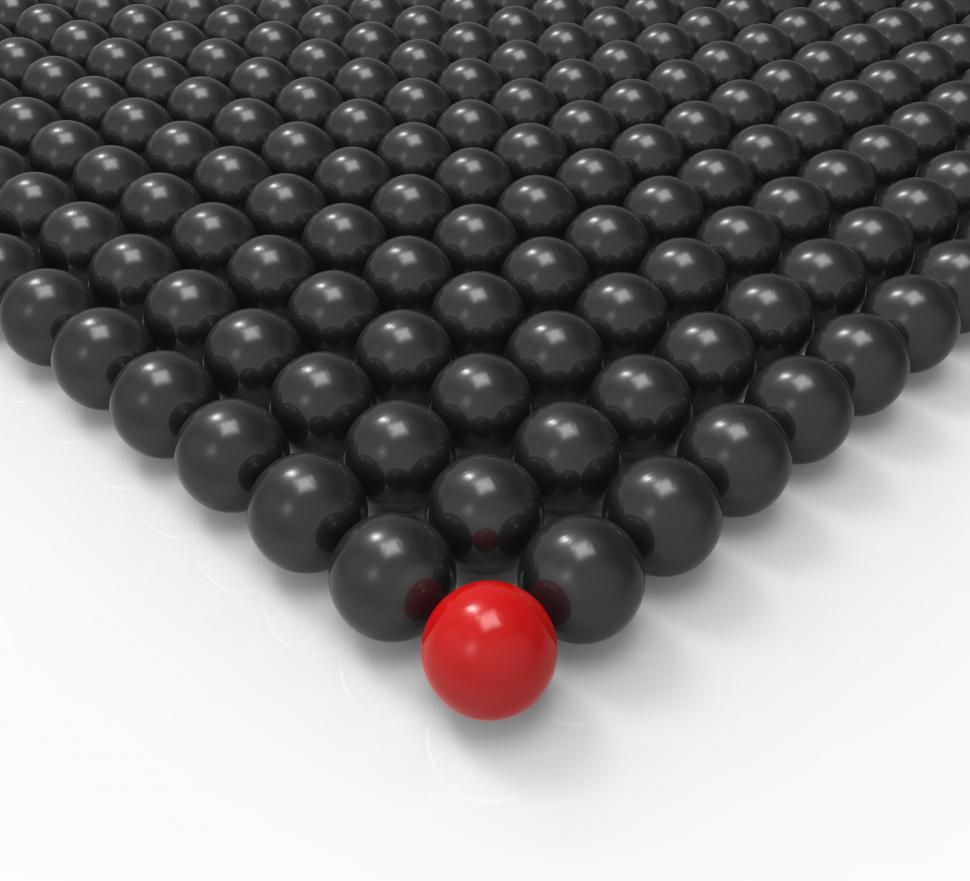 Download Free Stock HD Photo of Leading Metallic Ball Showing Leadership Or Acheiving Online