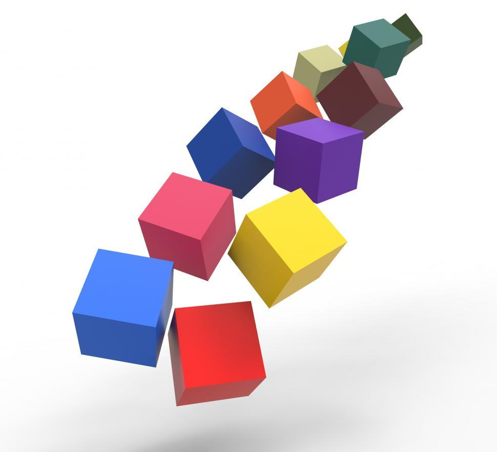Download Free Stock HD Photo of Blocks Falling Showing Action And Solutions Online