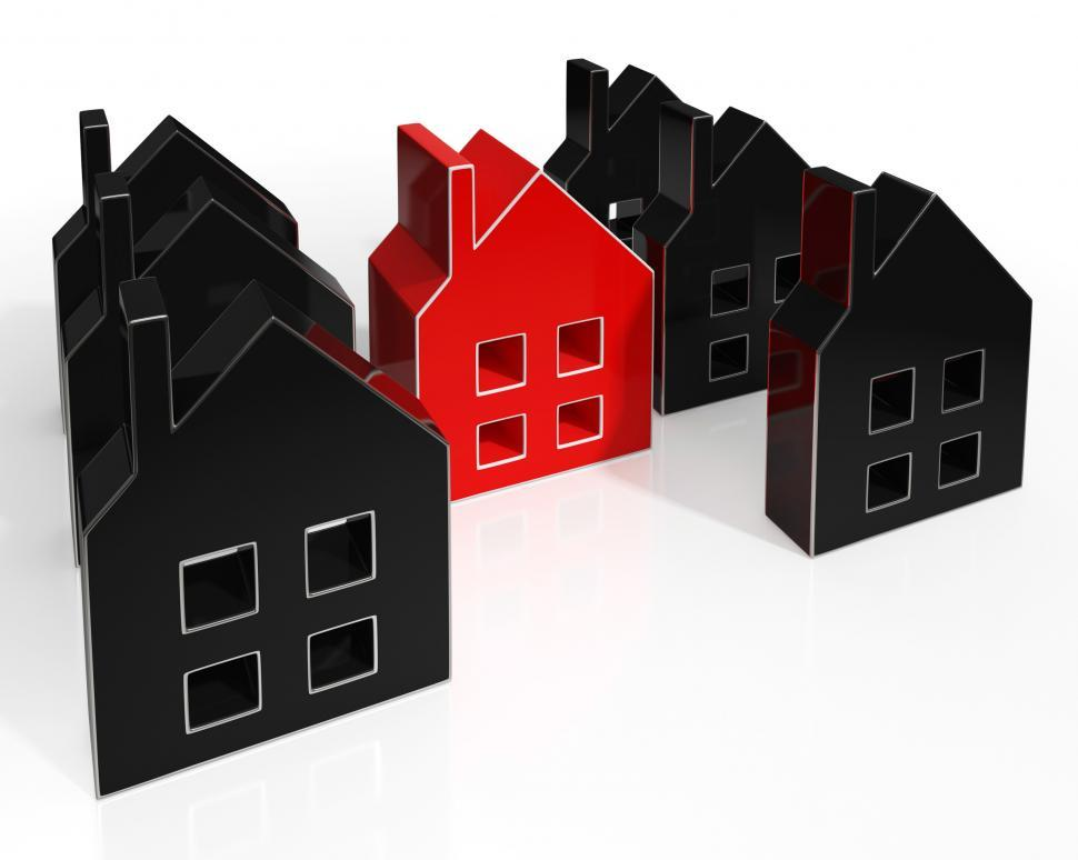 Download Free Stock Photo of House Icons Show Houses For Sale